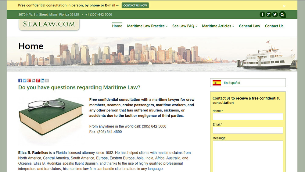 bilingual law website
