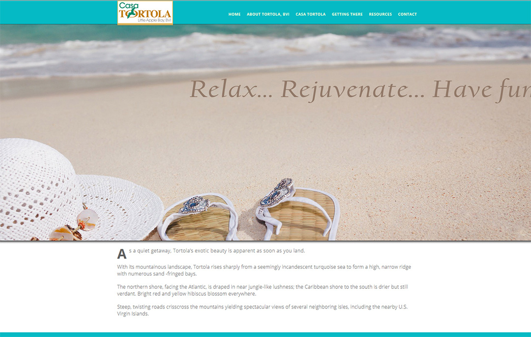 Casa Tortola - a vacation house website