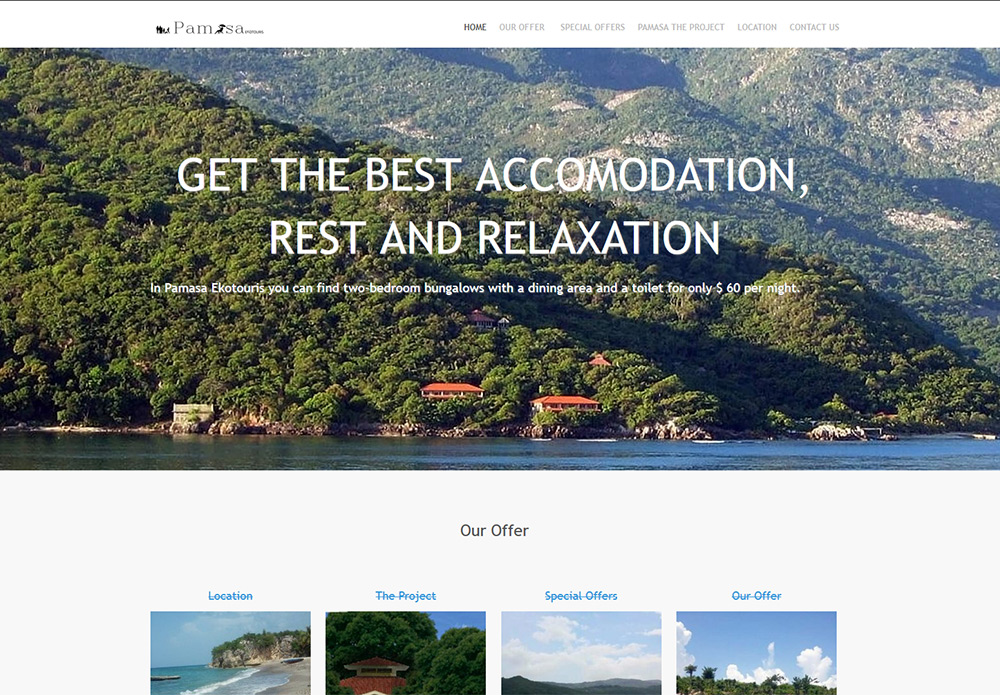 Pamasa Ekotouris, a vacation locale website