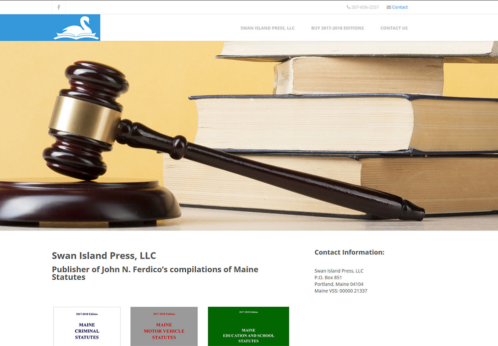 Swan Island Press, LLC - a law book publisher website
